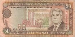 Turkménistan : 50 Manat Moyen état - Turkmenistan