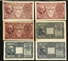 10 LIRE Giove 1944 Serie 3 Decreti + 5 Lire Atena Serie 3 Decreti Sup/q.fds LOTTO 3300 - Regno D'Italia – 10 Lire