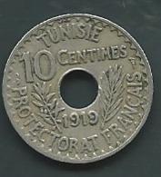 TUNISIE  -  TUNISIA 10 CENT 1919    - Pieb 24502 - Tunisia