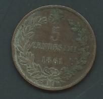 Victorio Emmanuel II 1961 5 Centisimi  - Pieb 24510 - 1861-1946 : Kingdom