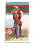 TUNISIE Drapeau Chromo Image Pub: Chocolat Senez-Sturbelle 65 X 40 Mm Semi-cartonnée TB 2 Scans Rare 1900's - Altri