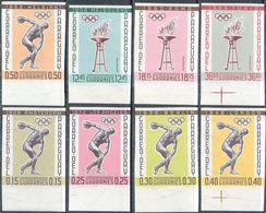 M4167 ✅ Sport Olympic Games 1962 Paraguay 8v Set MNH ** Imperf Imp 26ME - Olympische Spiele