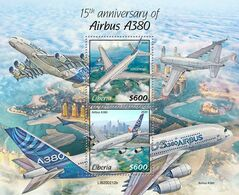 Liberia 2020  Airbus A380, Airplanes S202006 - Liberia