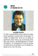 Carte Jeu, Animateur Télé Jacques Martin Depuis 1964 - Photo Paris Match - Questions Réponses Sur Sa Carrière - Altre Collezioni