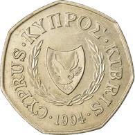 Monnaie, Chypre, 50 Cents, 1994, TTB+, Copper-nickel, KM:66 - Cyprus