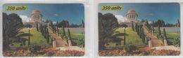 ISRAEL 2000 R.Y.F. COM BAHAI GARDENS HAIFA 2 PHONE CARDS MINT - Israel