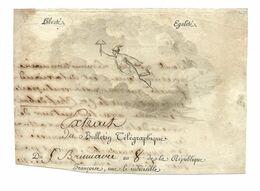 TELEGRAPHIE TELEGRAPHE CLAUDE CHAPPE BREST 1799 Brumaire An 8 DOCUMENT INCOMPLET /FREE SHIPPING R - Télégraphes Et Téléphones