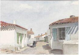 85. Gf. ILE D'YEU. Saint-Sauveur. Aquarelle De Droy. 1851 - Ile D'Yeu