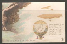 Carte P ( Les Conquérants De L'Air 1810/1911 / Zeppelin , Avion , Ballon ) - Dirigibili
