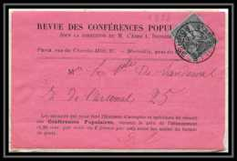 108983 Devant Lettre Revue Des Conferences Populaires Bouches Du Rhone N°83 Sage 1888 Marseille Bourse Daguin - 1877-1920: Periodo Semi Moderno