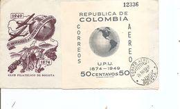 Colombie - UPU ( Lettre Illustrée De 1950 De Bogota Vers La Belgique à Voir) - Colombie