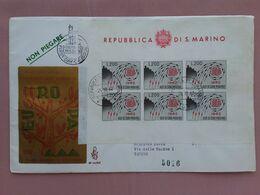 SAN MARINO - F.D.C. Venetia - BF Europa 1962 Su Raccomandata - Con Annullo Arrivo + Spese Postali - FDC