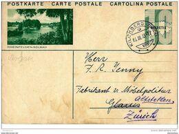 """32-63 - Entier Postal Avec Illustration """"Rheinfelden-Solbad"""" Cachet à Date Kilchberg 1933 - Entiers Postaux"""