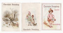 Chromo  CHOCOLAT BENDSORP  à Amsterdam    Lot De 3    Enfants, Poupée, Chien, Fleurs, Paysage Etc - Autres