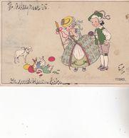 CPA Illustrateur : EBNER Pauli.  (M.M.VIENNE ,n°651.)   Carte écrite En 1912. - Ebner, Pauli