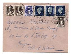 1945--Lettre De CHAMPIGNY/MARNE-94 Pour FOUGERES-35, Composition De Tps Chaines Brisées Et Marianne Dulac - Marcophilie (Lettres)