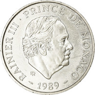 Monnaie, Monaco, Rainier III, 100 Francs, 1989, SUP, Argent, Gadoury:MC164 - Monaco