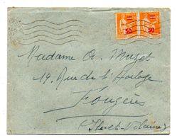 1941-Lettre De CHATEAUBRIANT-44 Pour Fougères-35 --Paire De Tps Paix N° 481  Sur Lettre..cachet  Krag - Marcophilie (Lettres)