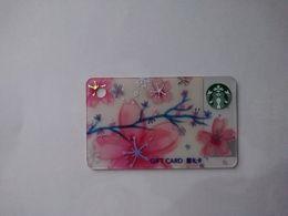 China Gift Cards, Starbucks, 300 RMB,  2017 (1pcs) - Cartes Cadeaux