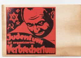 DC1542 - WW2 Propaganda Postcard Germany - Judeica Juden Judaica Judentum Ist Organisiertes Verbrechertum REPRO - Guerre 1939-45