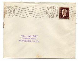 1945--Lettre De PARIS 9° Pour Fougères-35 --Marianne De DULAC 2F  Tp N° 694  Seul Sur Lettre..cachet  Krag - Marcophilie (Lettres)