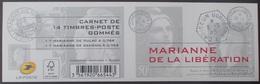2530 - 2015 - MARIANNE DE LA LIBERATION - CARNET N°1522 TIMBRES NEUFS** - Cote (2020) : 50,00 € - Carnets