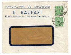 1938--Lettre De FLERS-61 Pour Fougères-35 -type Mercure N°414 Sur Lettre..cachet Rond--E.RAUFAST Chaussures - Marcophilie (Lettres)