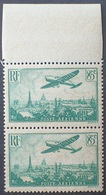 R1615/2261 - 1936 - POSTE AERIENNE - AVION SURVOLANT PARIS - PAIRE N°8 TIMBRES NEUFS** BdF - Cote (2020) : 20,00 € - 1927-1959 Ungebraucht