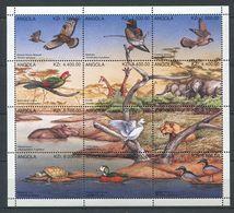 269 - ANGOLA 1996 - Yvert 1015/26 - Oiseau Girafe Lion Tortue .. - Neuf ** (MNH) Sans Trace De Charniere - Angola