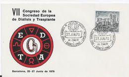 3533  Carta  Barcelona 1970, Vll Congreso De La Sociedad Europea De Diálisis Y Trasplante , Medicina - 1931-Heute: 2. Rep. - ... Juan Carlos I
