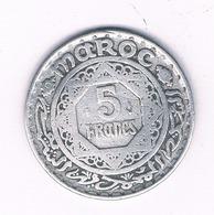 5 FRANCS 1370 AH MAROKKO /6027/ - Maroc