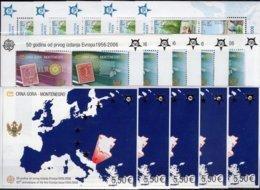 Perf.15 Blocks Bosnien Bl.13A,Crna Gora Block 2A+3 ** 292€ Hoja Blocs Stamp 50 Years CEPT 2006 M/s Sheets Bf EUROPA - Europa-CEPT
