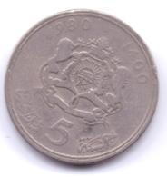 MAROC 1980:  5 Dirhams, Y# 72 - Maroc