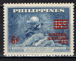 FILIPPINE - 1959 - Issued For United Nations Day, Oct. 24 - MNH - Filipinas