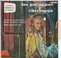 EP 45 TOURS BOF LES PARAPLUIES DE CHERBOURG AVEC LA LANGUETTE ESPAGNE SPAIN - Musica Di Film