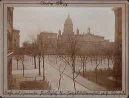 ! 2 Alte Fotos, Hartpappenphotos, 1894, Berlin Lichterfelde, Format 12,2 X 9,4 Cm - Lichterfelde