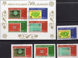 Imperf.50 Years CEPT 2006 Türkiye 3491/4+Block 58B O 30€ EUROPA-Marken Stamps On Stamp Bloque Hoja Bloc Ss Sheet TK - Europa-CEPT