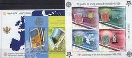 Topics CEPT Macedonia Bl.13+CRNA GORA Blocks 2A+3 ** 88€ Hoja Blocs Art Ss Sheets Map M/s 50 Years EUROPA 1956-2006 - Europa-CEPT