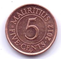 MAURITIUS 2012: 5 Cents, KM 52 - Mauritius