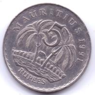 MAURITIUS 1991: 5 Rupees, KM 56 - Mauritius
