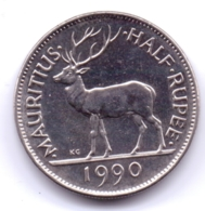 MAURITIUS 1990: 1/2 Rupee, KM 54 - Mauritius