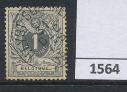 Nr  43 Met Stempel  Heyst-sur-Mer - 1869-1888 Lion Couché