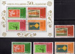 Perforiert 50 Years CEPT 2006 Türkiye 3495/8+Block 59 O 20€ EUROPA-Marken Stamps On Stamp Bloque Hoja Bloc Sheet TK - Europa-CEPT