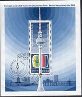 DDR  Block 30, Gestempelt, 20 Jahre DDR, Fernsehturm 1969 - DDR