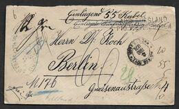 1878 RUSSLAND RUSSIA N. BERLIN - WERTBRIEF  55 Rubel - AUS RUSSLAND / PTO V. EYDKUHNEN - Selten- Rare - 1857-1916 Empire