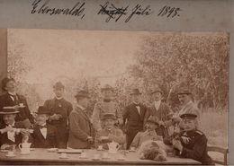! Altes Foto, Hartpappenphoto, 1898, Eberswalde, Garten Hotel Zum Deutschen Haus, Format  Ca.24 X 18 Cm - Eberswalde
