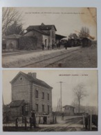 Beau LOT CPA GARES, TRAINS, VOIR PHOTOS - 5 - 99 Postcards