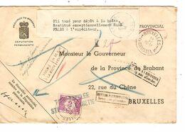 REF1497/ Lettre En Franchise C.BXL 18/4 Année Grattée Griffe T 2f > E/V Taxée 2 Frs TTx 47 C.BXL 19/4/42 > Taxe Annulée - Portomarken