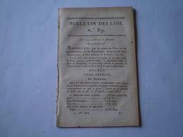 Napoléon: Loi Sur Les Douanes Droits Sur Les Importations & Exportations Par Produit;entrep^t De Lyon,Alexandrie,Gênes - Wetten & Decreten