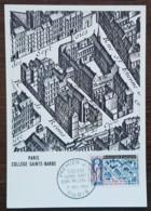 CM 1960 - YT N°1280 - COLLEGE SAINTE BARBE  - PARIS - 1960-69